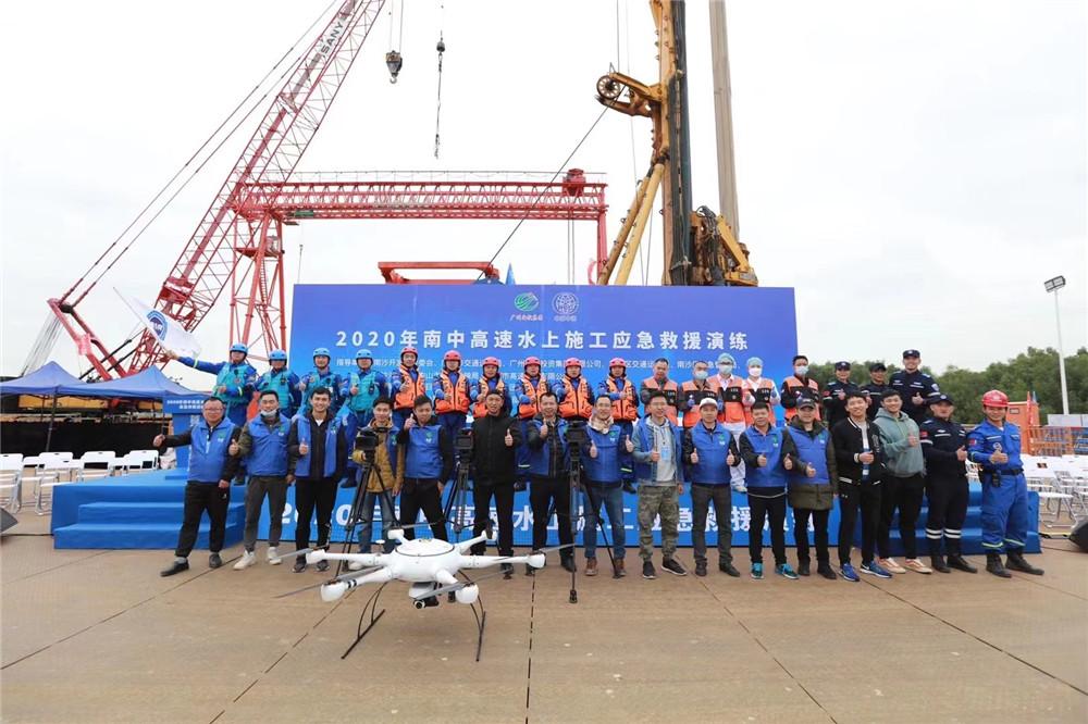 燃!寰易电喷式机动救援艇亮相2020南中水上施工应急救援演练